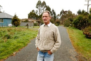 Lionel Wellington has bought an abandoned weatherboard house. Photo / Janna Dixon