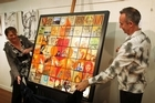 The collaborative art piece will be auctioned on Trade Me after the exhibition. Photo / Greg Bowker