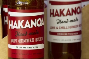 Hakanoa hand-made ginger beer. Photo / Supplied