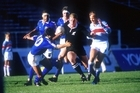 That 1987 World Cup try by John Kirwan against Italy is one of the stand-out All Black memories. Photo / Photosport