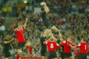 No number of defeats will ever snuff out the Welsh desire to beat the All Blacks. Above, at the 2003 World Cup in Sydney, New Zealand beat Wales 53-37. Photo / Brett Phibbs