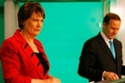 Former Prime Minister Helen Clark and John Key in TV3's 2008 election debate. Photo / supplied