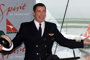 Qantas is replacing a John Travolta safety video, sparking outsourcing fears. Photo / Glenn Jeffrey