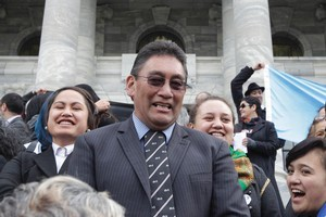 The Mana Party's Hone Harawira has finally managed to be sworn into Parliament after he refused to give the correct oath last month. Photo / Mark Mitchell