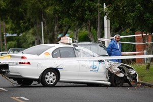 Taxi driver Hiren Mohini was stabbed to death on View Road in the Auckland suburb of Mt Eden in January last year. Photo / Richard Robinson.