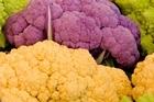 Orange, emerald green, and shocking pink varieties of cauliflower are being sold by UK supermarket chain Tesco. Photo / Thinkstock