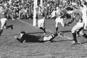 Don Clarke scores against the Lions in 1959. Photo / NZ Herald Archives