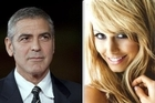 George Clooney and his new girlfriend (reportedly), Stacy Keibler. Photo / AP