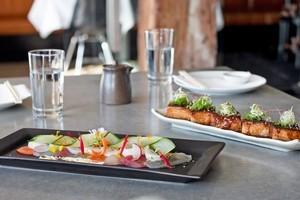 Pork belly and mixed sashimi at Ebisu. Photo / Natalie Slade