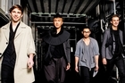 Street style bloggers (from left to right) Danny Simmons, Chin Tay, Mino Kim and Alejandro Blanco. Photo / Babiche Martens