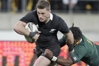 Cory Jane wearing the new All Black jersey against South Africa last weekend. Photo / Mark Mitchell