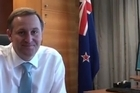 John Key's office today released the video that was filmed prior to his David Letterman show appearance. The Prime Minister has said the video was not an audition.