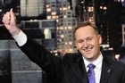 New Zealand Prime Minister John Key appeared on the David Letterman Show in New York on September 24, 2009. Photo / NZPA