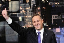 John Key on the Letterman Show. Photo /NZPA