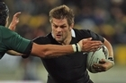 Richie McCaw was the top ball carrier for the All Blacks with eight. Photo / Getty Images