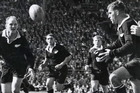 Colin Meads in action for the All Blacks. Photo / NZ Herald Archives