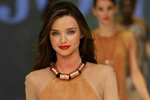 Miranda Kerr wears a design by Kirrily Johnston on the catwalk at the David Jones Spring/Summer 2011 season launch in Sydney, Australia. Photo / Getty Images