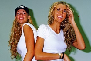 Nicky Watson and Sally Ridge in 2001. Photo / Supplied