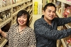Derek and Teresa Yee shopping at David Trading in Petone. Photo / Mark Mitchell