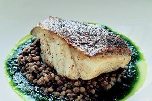 Cod with Lentils. Photo / Supplied