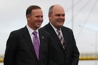 Prime Minister John Key and Minister of Transport Steven Joyce. Photo / Getty Images