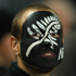 A face-painted fan at Eden Park. Photo / Getty Images