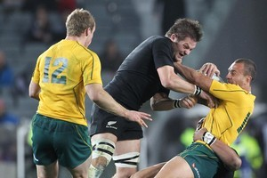 The All Blacks' 30-14 victory over Australia on Saturday will have been closely watched by the Springboks. Photo / Paul Estcourt