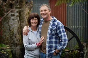 Phil Goff with wife Mary. Photo / Natalie Slade