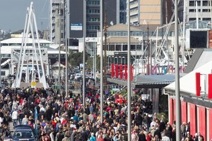 50,000 people packed into Wynyard Quarter for its opening on Saturday. Photo / Natalie Slade