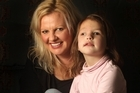 Jade Riley says support for her daughter Zahnee Campbell, 5, has been overwhelming. Photo / Alan Gibson
