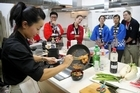 Japanese Cooking Class run by Sachie Nomura-suie in the Axis Building on St Georges Bay Road, Parnell.