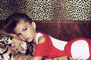 These images of Thylane Lena-Rose Blondeau from the January issue of 'French Vogue' have caused concern. Photo / Supplied