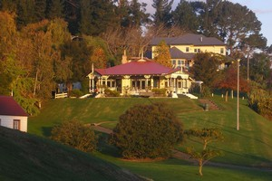 Victorian buildings on the edge of in Te Aroha Domain. Photo / NZ Herald