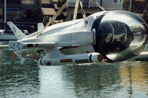 Deep Flight's experimental submersible uses hydrodynamic force. Photo / Supplied