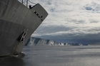 The HMNZS Wellington's voyage to Antarctica sent a message to the world. Photo / Supplied