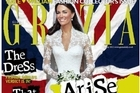The Grazia magazine cover showing a digitally slimmed-down Duchess of Cambridge on her wedding day to Prince William. Photo / Supplied