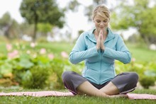 Be open-minded and give your body and mind time to relax fully into yoga, say instructors. Photo / Getty