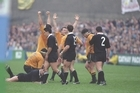 Australia celebrate their victory in the 1991 World Cup semifinal.