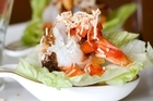 Mieng prawns at De Grand Thai Restaurant & Bar. Photo /  Babiche Martens