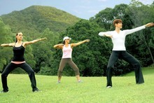 Tai Che Qigong Shibashi at Golden Door Retreat Centre. Photo / Supplied