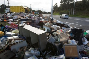 A user-pays inorganic collection would mean junk would simply accumulate in most households. File photo / Paul Estcourt