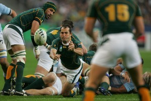 Halfback Fourie Du Preez, one of the stars of 2009, is back in the Bok line-up. Photo/ Brett Phibbs