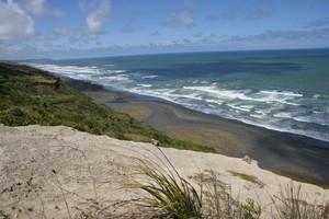 A magnificent view awaits you at the Karioitahi Beach clifftop. Photo / Robert Trathern