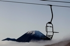 Looking out to Mt Ngauruhoe from Whakapapa Ski Field. Photo / file