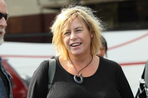 Sue Bradford arrives at the Mana Party launch in April. Photo / Chris Loufte