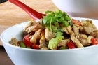 Dijon & chilli marinaded nutty chicken stir fry & soba noodles. Photo / Supplied