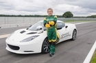The Who's Roger Daltrey with a Lotus Evora. Photo / Supplied