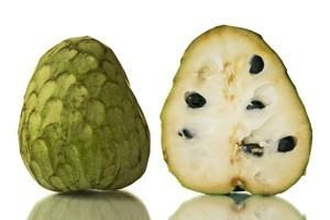 Cherimoya flesh should be scooped and savoured straight from the fruit like icecream in a tub. Photo / Thinkstock