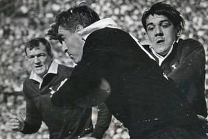 Colin Meads in action for the All Blacks. Photo / Herald archives