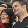 A fan poses for a photo with All Blacks skipper Richie McCaw after the match. Photo / Getty Images